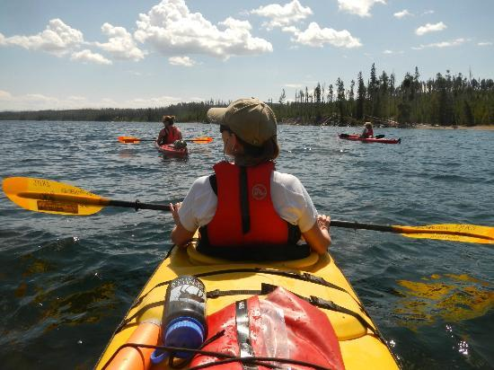 Rendezvous River Sports: Beginning our paddle trip from West Thumb