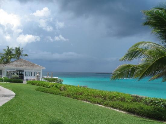The Ocean Club, A Four Seasons Resort, Bahamas : Dune restaurant under construction Sept 2012