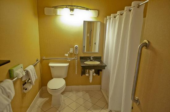 Holiday Inn Express Kent Island: bathroom... no shelf space, sorry
