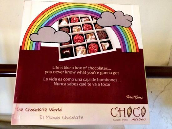 Museum Choco: Choco Museo message, and it's true