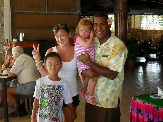 Plantation Island Resort: one of the restaurant staff members