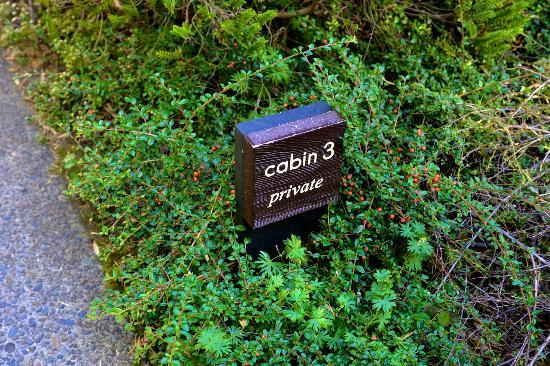 Coast Cabins: our cabin #, on the pathway