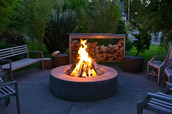 Coast Cabins: Evening Fire