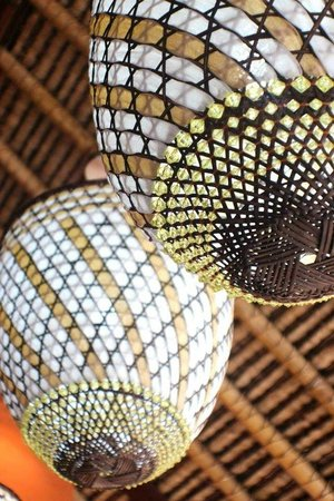 Tigerlillys Boutique Hotel: exotic indian lights above our bar