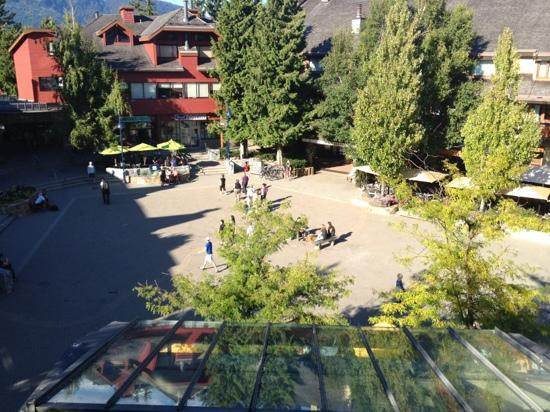 Crystal Lodge Hotel: view from balcony - village square
