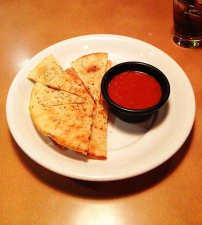 Boston Pizza: Pizza bread with bolognese sauce