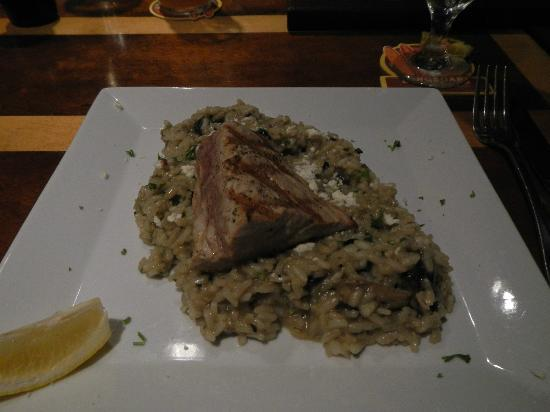The Mediterranean Gourmet: Fresh Ahi with Mushroom Risotto