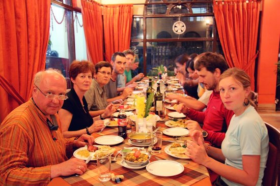 Thamel House Restaurant : A group dinner