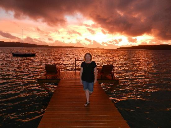 The Havannah, Vanuatu : Jetty at Sunset