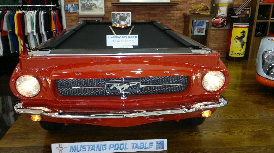 Mustang Pool Table Inside Of Mall Collectible Shop Picture Of - Mustang pool table