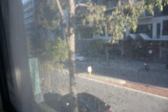 Mont Clare Boutique Apartments: Dirty window