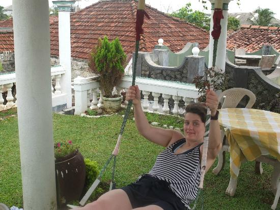 Ocean View Guest House: The swing (she'll kill me if she finds out I've posted this!).