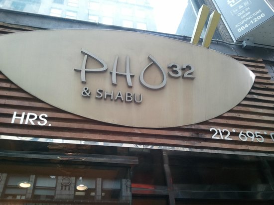 Pho 32 & Shabu: outside of the restaurant
