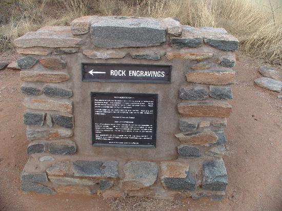 Oase Guest House: Rock Engravings