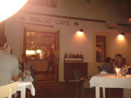 Macao Cafe: Von der Terrasse aus...