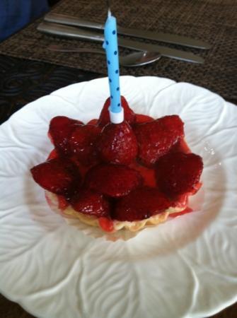 Villa Saraswati: birthday tart