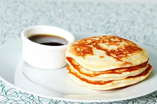 The Diner: Pancakes w./syrup. Try with some steaming hot coffee