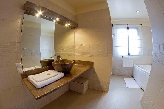 Hotel Gregoire: Salle de bains du studio
