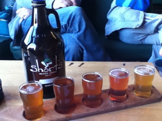 Short's Brewing Company: they had at least 15 beers on tap to choose from.  Our favorite, and selection for our growler r