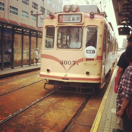 Daiwa Roynet Hotel Hiroshima : Tram/streetcar stops right outside