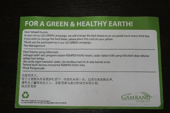 Bukit Gambang Resort City: Eco Green Card