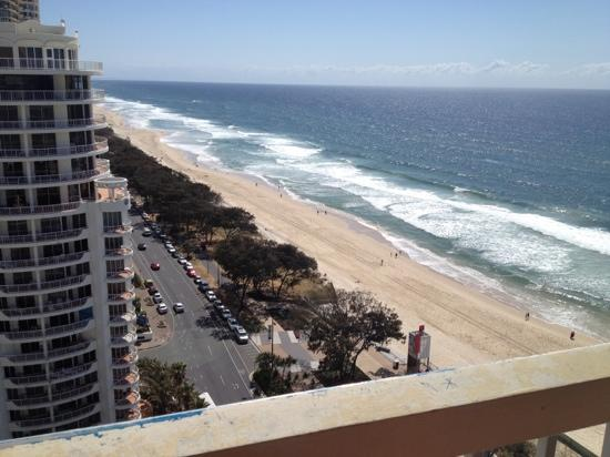 Chateau Beachside: view from the 17th floor