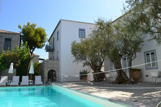 Orloff Resort Hotel : L'espace piscine+ petit dej