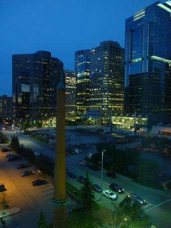 Sheraton Suites Calgary Eau Claire: View from the lounge window