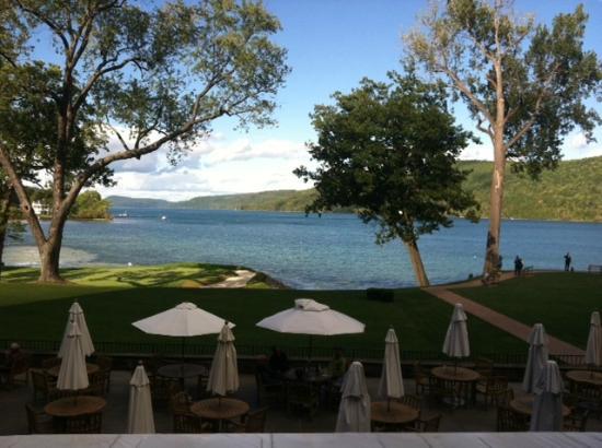 The Otesaga Resort Hotel: View from veranda area