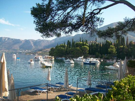 Hotel Cavtat: view from hotel terrace