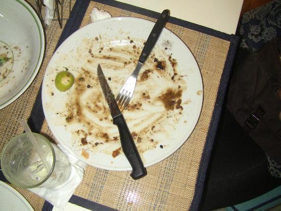La Hacienda Grill & Bar: My fiance's plate