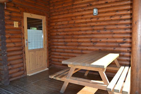 Camping Vall De Camprodon: Terraza