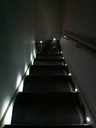 22 Lansdown Place: Loved the lit stairs.