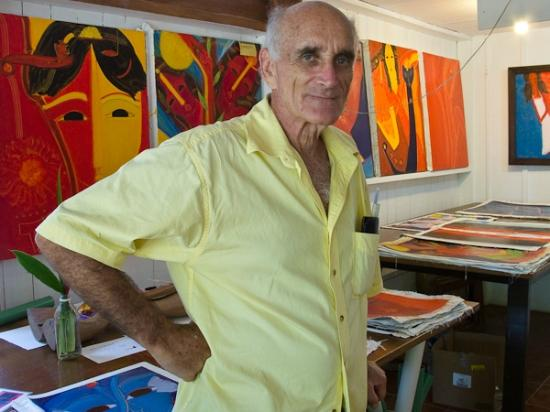 Koss Art Gallery : Don Jaime in his studio/gallery