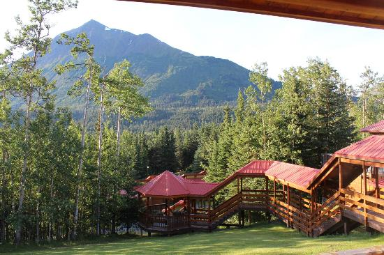 Kenai Princess Wilderness Lodge: View from our room.  Walking climb up to the lodges from the lobby.