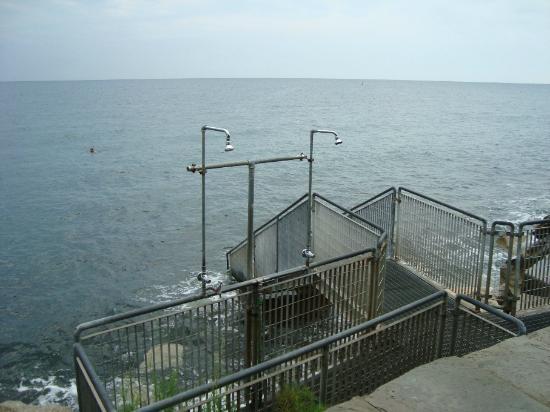 Hotel Miramare: Beach - stairs