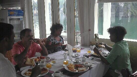 Halong Continental Sails Day Cruise: our breakfast readily served..