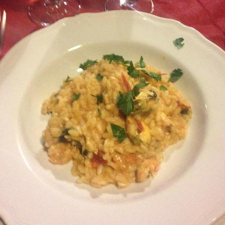 Villa Rina Country House Amalfi: Dinner - Seafood risotto