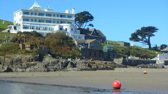 Burgh Island Hotel from the tidal causeway