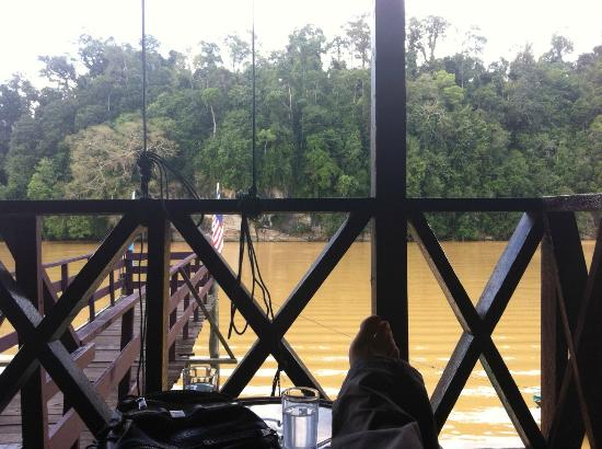 Barefoot Sukau Lodge: Terrazza