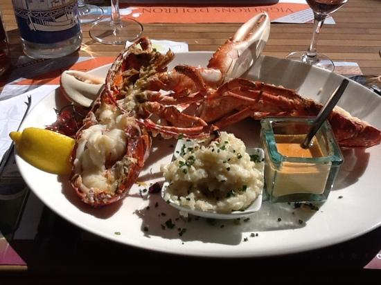 Le Petit bouchon : my lobster, it was excellent!