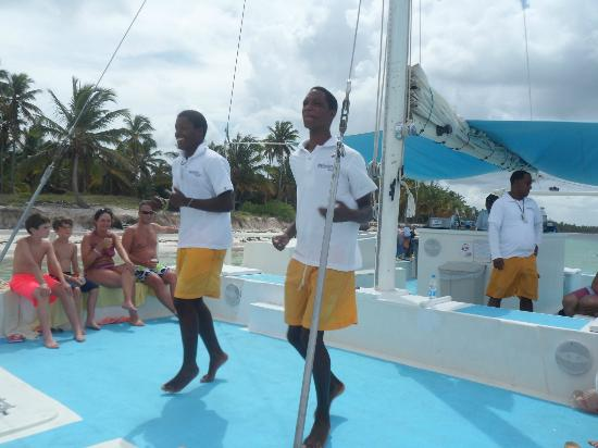 Marinarium Excursions - Sunny Day Sailing Cruise : Staff dancing