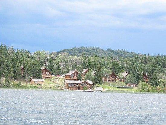Roche Lake Resort :                   The resort from the lake