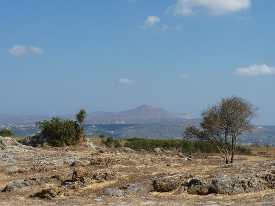Ancient Aptera: View towards Akrotiri
