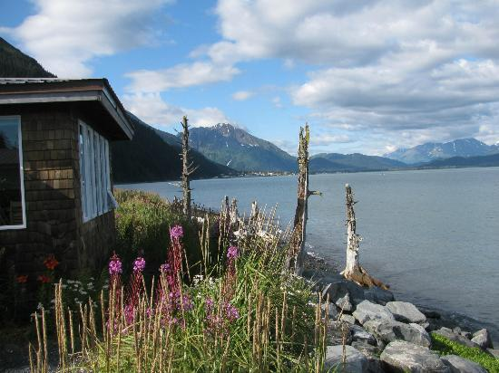 Angels Rest on Resurrection Bay, LLC: view of Seward from cabin