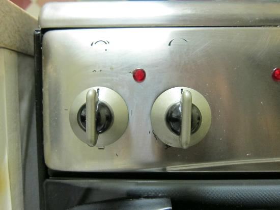 Grand Seas Resort: numbers wiped off of oven control-can't tell setting or temperature