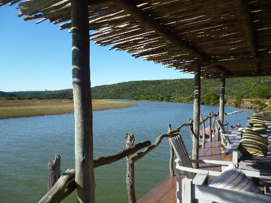 Kariega River Lodge: View down the Bushman River