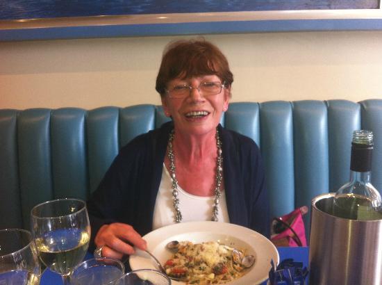 Carluccio's - Richmond: mum enjoying seafood pasta