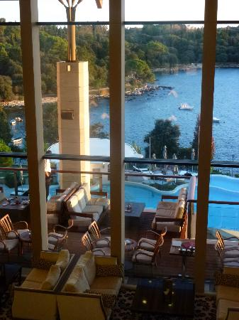 Hotel Monte Mulini: view from the lobby