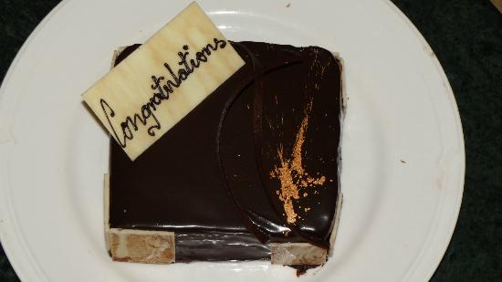 Taj Exotica Goa: our cake..